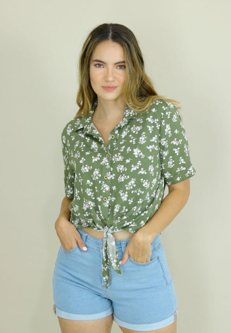 camisas paramujer verde