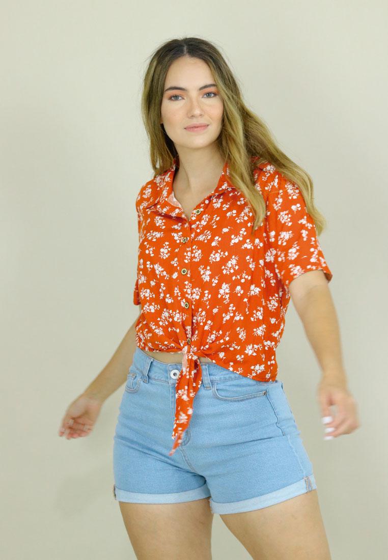 camisas paramujer naranjada